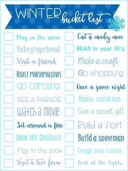 Winter Bucket List