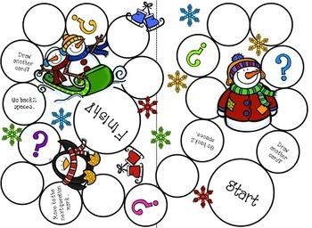 Winter Buddies {Game Boards}