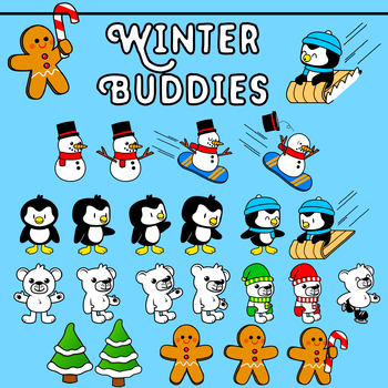 Winter Buddies (Winter Themed Clip Art)