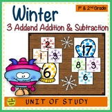 Winter Build 3 Addend Addition & Subtraction Number Sentences