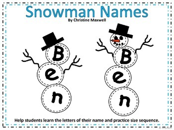 Winter Build A Name or Word Snowman
