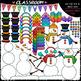Winter Build A... - Growing Clip Art & B&W Bundle 1 (4 Sets)