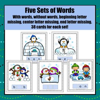 Winter Build a CVC Word - S