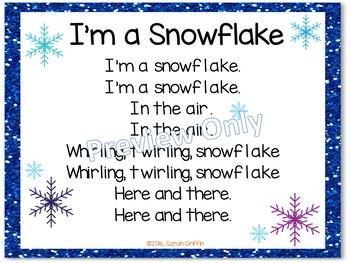 Winter Build a Poem Pocket Chart Centers - Bundle