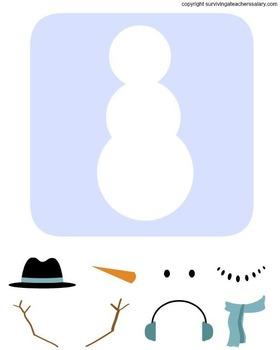 Winter Build a Snowman Activity Printable