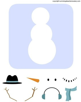 Winter Build a Snowman Activity Printable