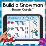 Winter Build a Snowman Visual Perceptual Boom Cards for Oc