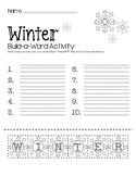 Winter Build-a-Word Activity
