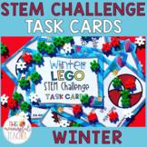 Winter Building Bricks STEM Challenge Task Cards