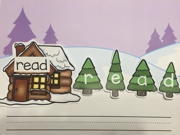 Winter Building Sight Words