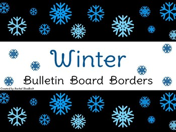 Winter Bulletin Board Borders