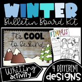 Winter Bulletin Board Kit - 4 different designs- Kindness writing activity