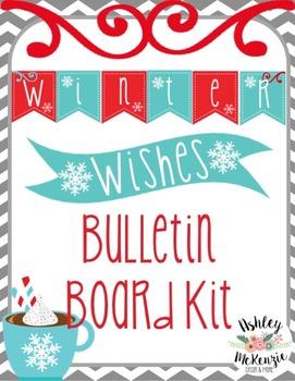 Winter Bulletin Board Kit- Winter Wishes Writing Craftivity