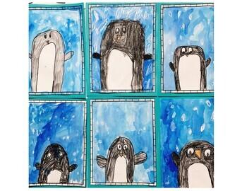 Winter Bulletin Board, Penguin Bulletin Board