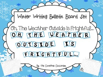 Bulletin Board Set: Winter Writing Activity