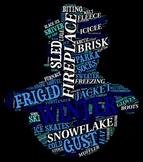 Winter Vocabulary Bulletin Board Sign