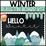 Winter Bulletin Board or Door Kit - Winter Wonderland Theme