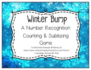Winter Bump:  A Number Recognition, Counting, Adding, & Su