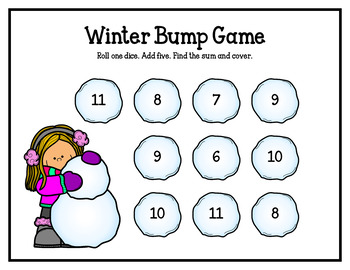 Winter Bump Games (Addition and Subtraction)