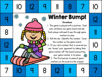 Winter Bump! Number Recognition Game