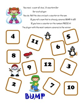 Winter Bump and Beyond Math Games