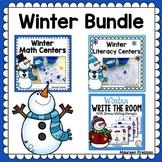 Winter Math & Literacy Centers for Kindergarten