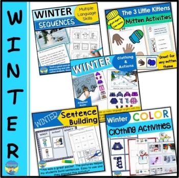 Winter Bundle- Sentences, Clothing, Colors: ESL, Speech, Special Ed, Lang Arts