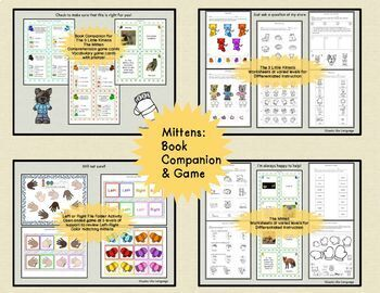 Winter Speech Language Picture Activities Bundle for Mixed Groups