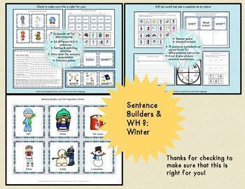 Winter Picture Activities and Adapted Books Bundle for Special Education