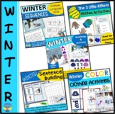 Winter Picture Activities and Adapted Books Bundle for Spe
