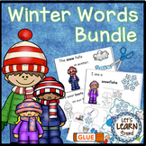 Winter Activities Math and Literacy Bundle, Winter Words, January Activities