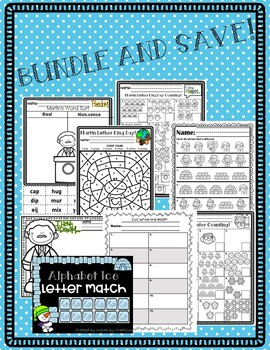 Winter Bundle! CVC Write the Room, Letter Match, Counting, and MORE!