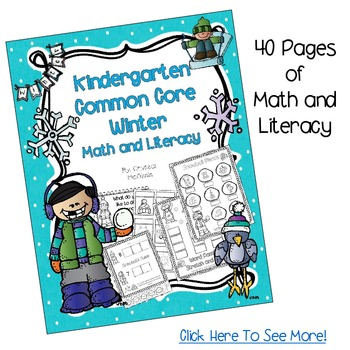 Winter Bundle! Five Winter Packs HALF PRICE (Science, Math, Literacy) 260 Pages