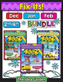 Winter Bundle - Fix-Its NO PREP (2nd-4th) - (Dec/Jan/Feb)