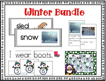 Winter Bundle - Great for ELs, newcomers and young readers!