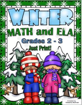 Winter Bundle! Math and ELA! Grades 1 - 3  A Wonderland of Fun!