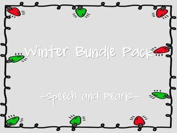 Winter Speech and Language Bundle Pack