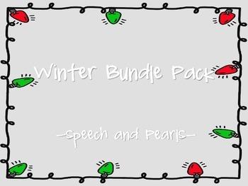 Winter Speech and Language Bundle Pack