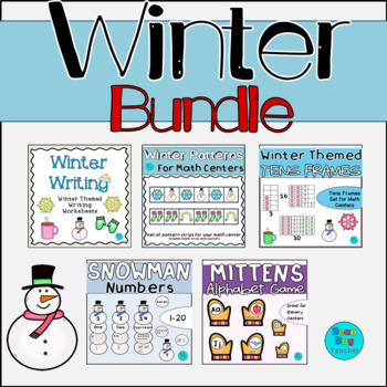 Winter Bundle - Patterns, Tens Frames, Counting, Letters, Writing