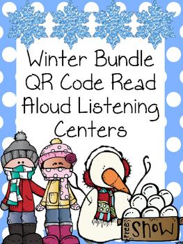 Winter Bundle QR Code Read Aloud Listening Centers