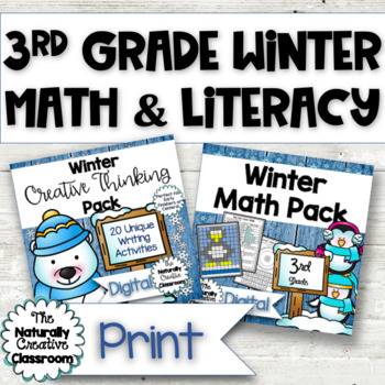Winter Activities Pack: A Bundle of Winter Activities for Winter Math & Literacy