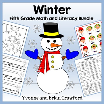Winter Bundle for Fifth Grade Endless