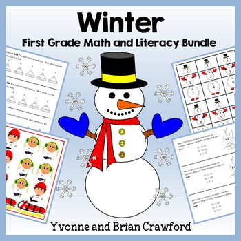 Winter Bundle for First Grade Endless