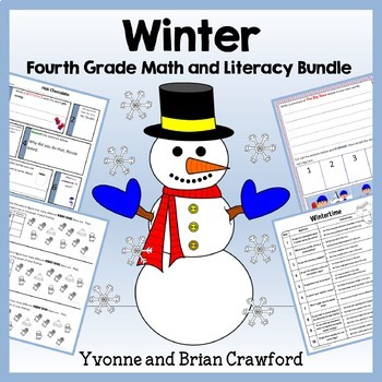 Winter Bundle for Fourth Grade Endless