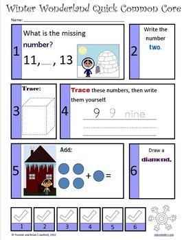 Winter Bundle for Kindergarten Endless