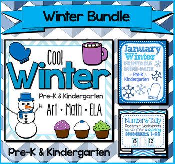 Winter Bundle for Pre-K and Kindergarten