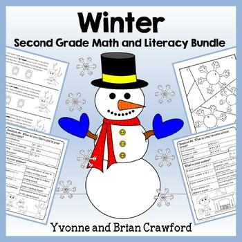 Winter Bundle for Second Grade Endless