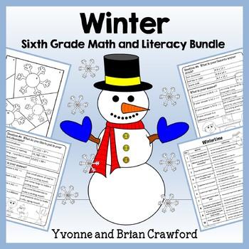 Winter Bundle for Sixth Grade Endless