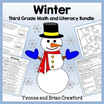 Winter Bundle for Third Grade Endless