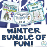 Winter Bundle; math, reading, writing and fun!